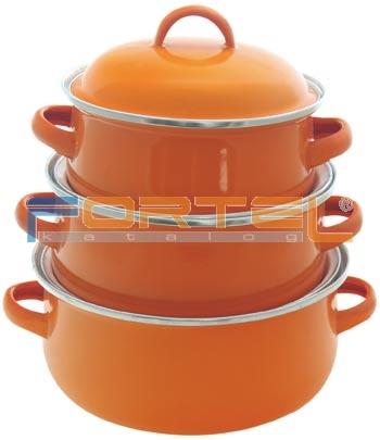 Smaltovaný riad - oranžový súprava | Riad | Fortel