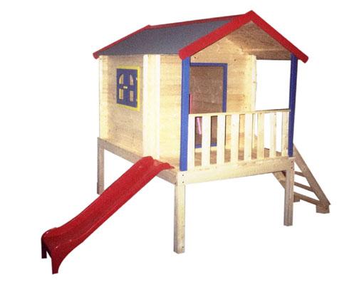 d0763ad10b223 Drevený záhradný domček so šmýkačkou Kleopatra | Detské pieskoviská ...