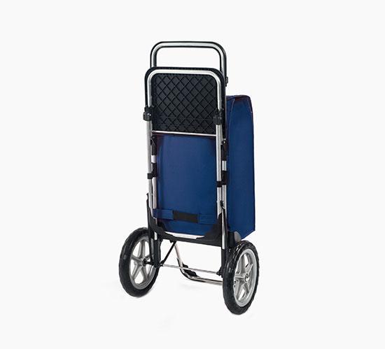 1e7fcfc26372e Veľká nákupná taška na kolieskach so sedadlom Relax 65 l, modrá ...