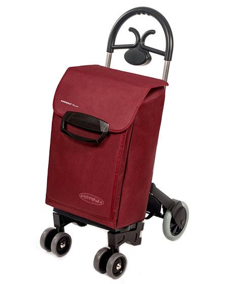 f4b87616e5689 Bezpečná nákupná taška na kolieskach pre seniorov Forza 6, bordó ...