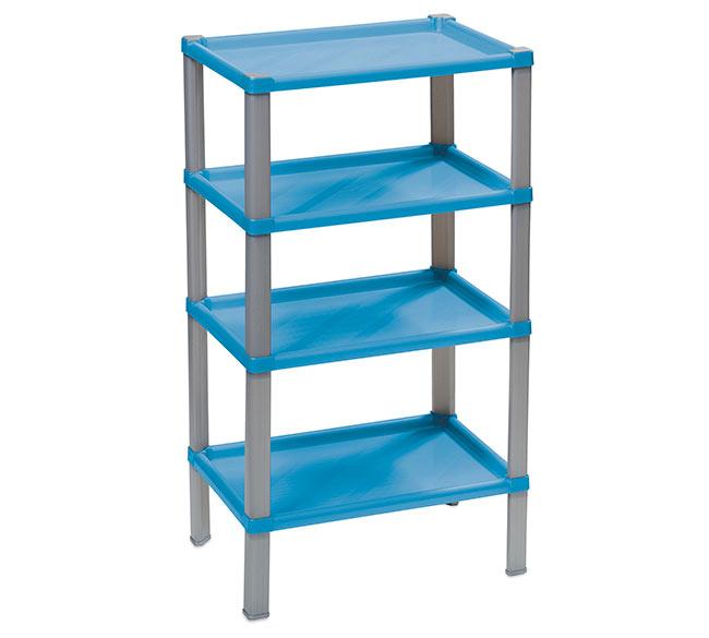 f13d54548 Plastový regál do domácnosti 104, 4 police, 42x30x74 cm, modrá ...